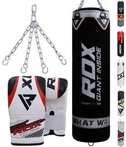 kit sac suspendu boxe RDX noir gris