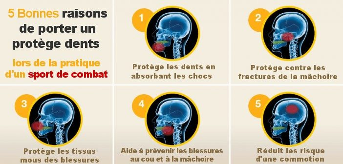 infographie pourquoi porter protege dents boxe