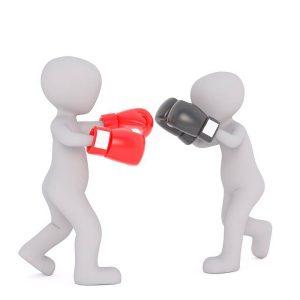 boxe-personnages enfants sparring
